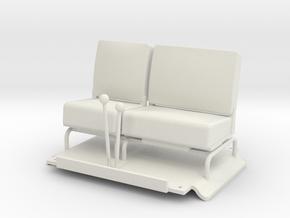 Seats-RHD in White Natural Versatile Plastic