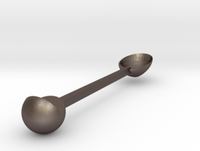 Goodmorning spoon in Polished Bronzed-Silver Steel