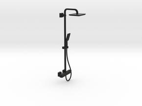 1:12 Shower panel (square modern look) in Black Premium Versatile Plastic