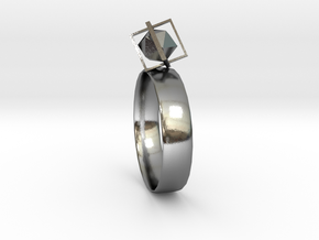 sight (ring) in Polished Silver