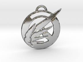 Overwatch Mercy Pendant in Fine Detail Polished Silver