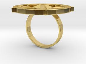 "Sawaleh ""star"" ring in Polished Brass: 6 / 51.5"
