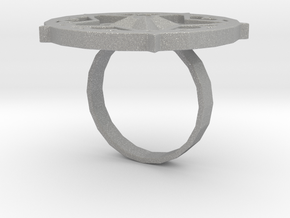 "Sawaleh ""star"" ring in Aluminum: 6 / 51.5"