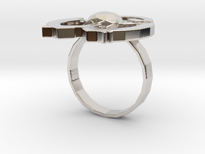 Hilalla ring in Rhodium Plated Brass: 6 / 51.5