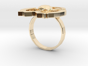 Hilalla ring in 14k Gold Plated Brass: 6 / 51.5