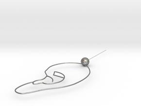 ear earrings in Natural Silver: Medium
