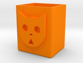 貓咪造型筆筒 in Orange Processed Versatile Plastic