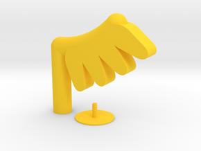 Captain Klutz Mask Wings in Yellow Processed Versatile Plastic