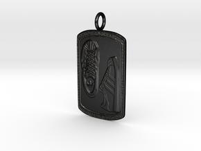 Adidas Pendant (Dog tag)  in Matte Black Steel