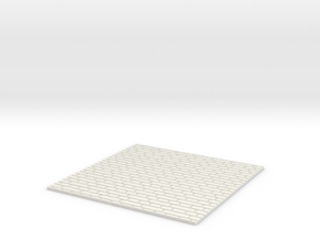Brick Facing For Model Train or Tram Dioramas in White Natural Versatile Plastic: 1:28