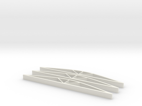 Roof Supports in White Natural Versatile Plastic