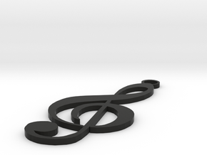 Note Jewelry in Black Natural Versatile Plastic