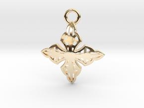 Cross Charm/Pendant in 14K Yellow Gold