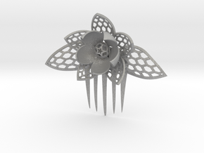 HoneyComb Flower Pin in Aluminum