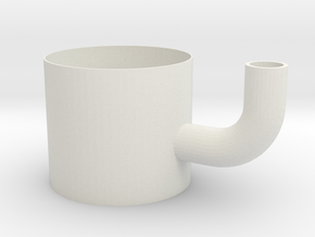 Straw gripper mug in White Natural Versatile Plastic
