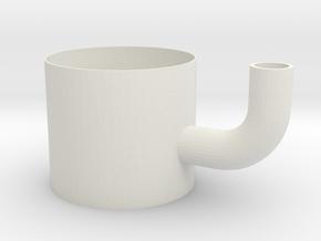 Straw gripper mug in White Natural Versatile Plastic