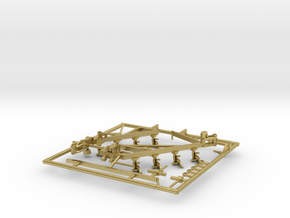 1/64 Blanchat 8 Bottom Plow in Natural Brass