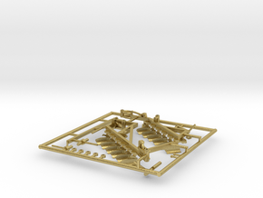 1/87 Blanchat 12 Bottom Plow in Natural Brass