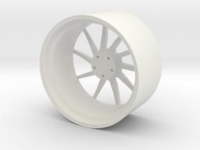 Brixton Forged R10D - Monoblock Wheel (Direction B in White Natural Versatile Plastic