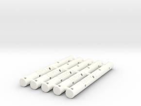 Adapters: Multiple Zebra F to Uni SXR-80 (x5) in White Processed Versatile Plastic