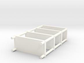 Shelf set in White Processed Versatile Plastic: Large