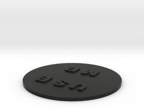 Coaster in Black Natural Versatile Plastic