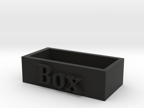 Special box in Black Natural Versatile Plastic