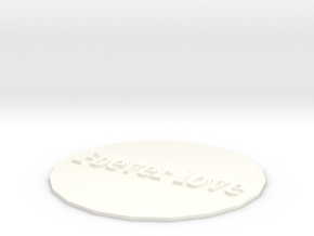 Styling cup mat in White Processed Versatile Plastic