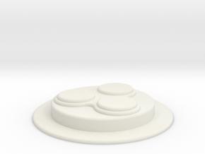 Snow Trooper Disc in White Natural Versatile Plastic