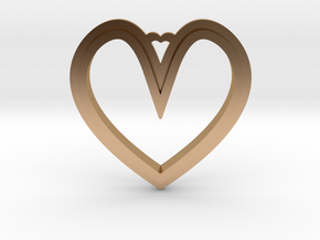 Heart Pendant in Polished Bronze