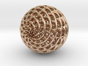 Diamond Sphere in 14k Rose Gold