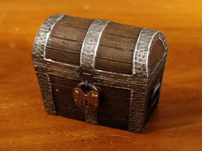 Treasure Chest in Smooth Fine Detail Plastic