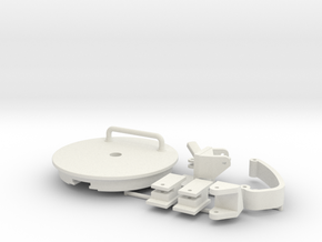 1/10th Panther Turret Rear Hatch in White Natural Versatile Plastic