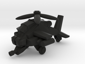 MINI HELI in Black Natural Versatile Plastic