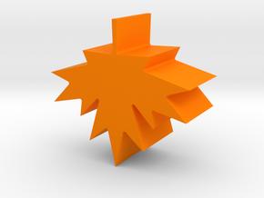 Maple leaf charm in Orange Processed Versatile Plastic