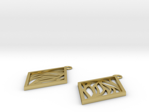 Aethra earrings in Natural Brass: Small