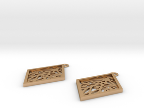 Tiana earrings in Natural Bronze: Small
