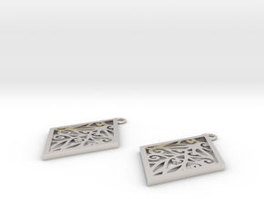 Tiana earrings in Rhodium Plated Brass: Small