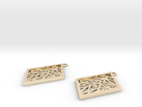 Tiana earrings in 14k Gold Plated Brass: Small