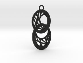 Dryad pendant in Black Natural Versatile Plastic: Large