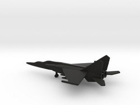 MiG-25PU Foxbat-C in Black Natural Versatile Plastic: 6mm