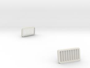 AirIntakeCover in White Natural Versatile Plastic