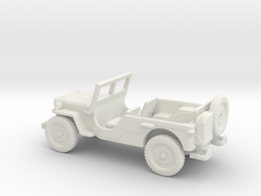 1/87 Scale MB Jeep LWB Assembly in White Natural Versatile Plastic