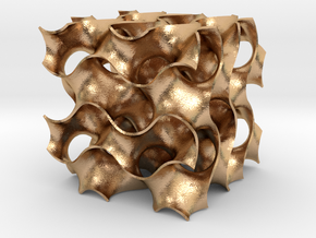 Gyroid - 40/40/40 .6mm Wall in Natural Bronze