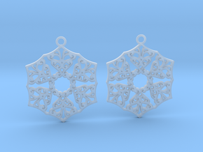 Ornamental earrings no.3 in Smooth Fine Detail Plastic
