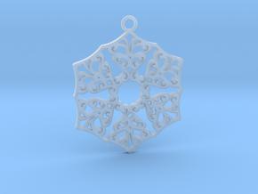 Ornamental pendant no.3 in Smooth Fine Detail Plastic