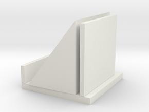 Vertical mobile phone holder in White Natural Versatile Plastic: Medium