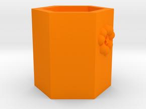 Pen holder in Orange Processed Versatile Plastic: Medium
