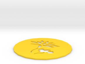 Lotus coaster in Yellow Processed Versatile Plastic