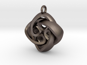 Celtic Knot in Polished Bronzed-Silver Steel